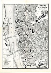 37 Tours 1912 Plan Ville Orig. + Guide (8 P) Emile-zola St-symphorien Jacobins Bsmojogk-07233254-870036786
