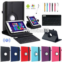 Us For Nextbook 7 7.85 8 10.1 Tablets Bluetooth Keyboard+rotate Leather Case