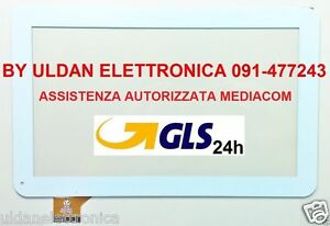 Touch-Screen-Mediacom-I10A3G-M-MPI10A3G-SmartPad-i10-3G-Vetro-Originale-Bianco