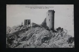 Postcard-Antique-Surroundings-Chateauneuf-All-Tours-of-The-Castle-Of-Lhers