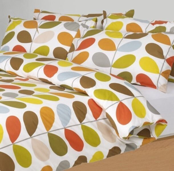 Orla Kiely SuperKing Duvet Cover Multi Stem & Pillowcases Super King Bedding Set
