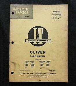 1965-Oliver-1800-1850-1900-1950-a-B-C-Tractor-i-T-Tienda-Reparar-Manual-Muy-Buen