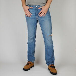 Levi-039-s-501-Original-fit-restyled-Yellow-Canyon-Blau-Herren-Jeans-33-32