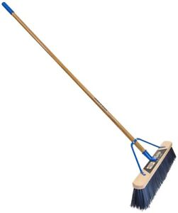 24 in 2-Pack Super Stiff Outdoor Poly Push broom 60 in Handle Heavy Duty