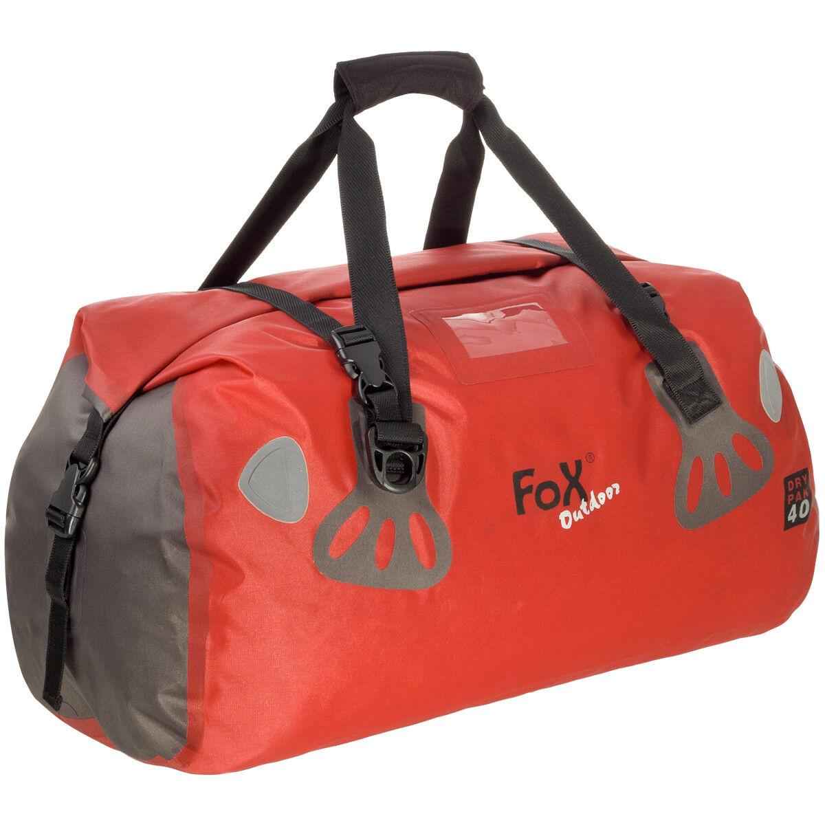 Fox Outdoor Bolsa de Lona Barco Impermeable DRY PAK 40 Kayak Barco Lona Rodar Paquete Rojo 5c3640
