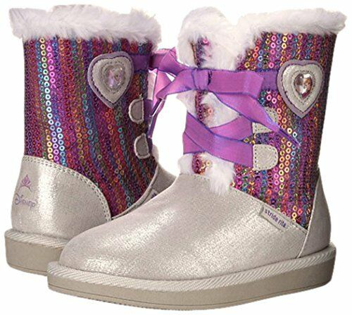 8.5-12 Stride Rite Youth Disney Frozen Winter Fur Lined Boots CG53531DY Sizes