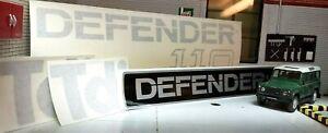 Black Complete Body Badge Decal Set Fits Defender LWB 110 TDi Diesel
