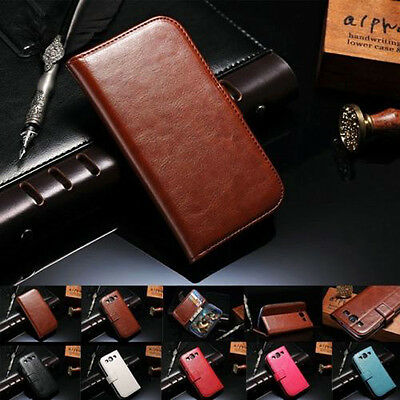 Luxury Leather Flip Stand Card Holder Wallet Case Cover for Samsung S3/S3 Neo+