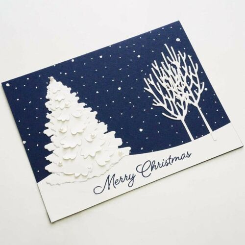 Christmas Tree Metal Cutting Dies DIY Craft Stencil Paper Card Decor Die Cuts