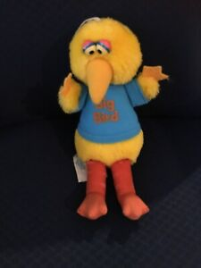 Vintage-1983-Big-Bird-Sesame-Street-Plush-Friends-79353-Playskool-9-034-CTW-Hanging