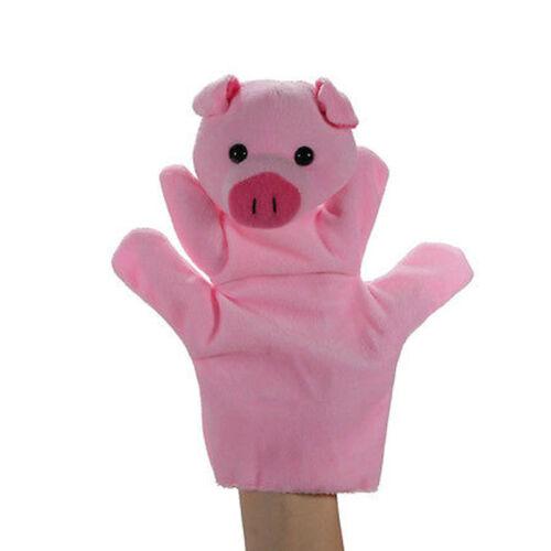 12Styles Animal Wildlife Hand Puppet Glove Soft Plush Doll Puppets Childrens Toy