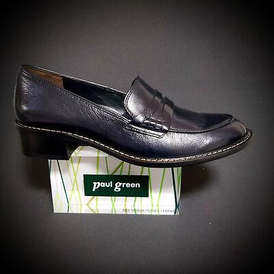 NEU Paul Green 2148 051 Schuhe Slipper Trotteur Loafer ocean blau Leder | eBay