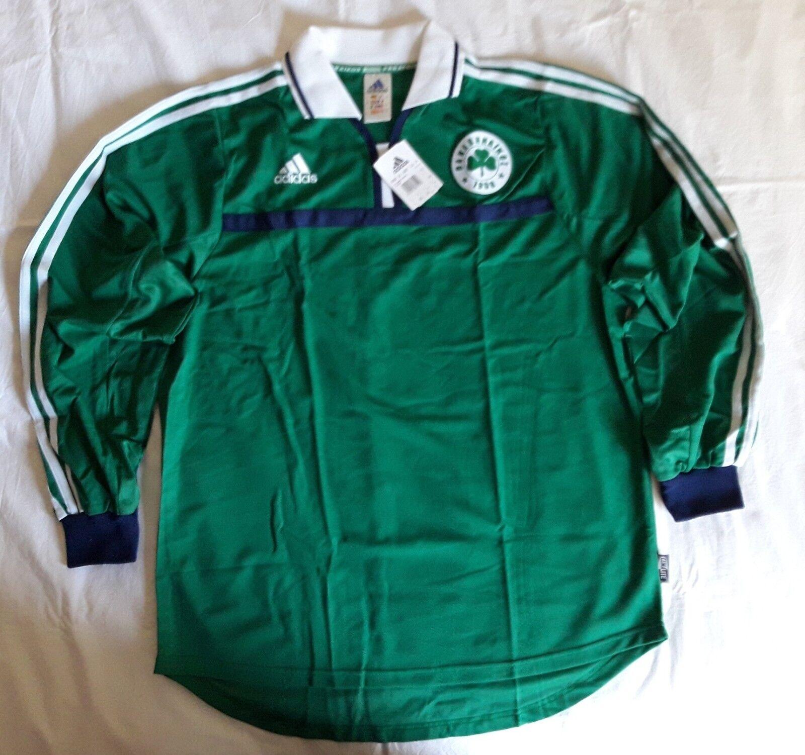 Panathinaikos 2001 2002 home footbtutti shirt soccer jersey, Adidas, Dimensione L, BNWT