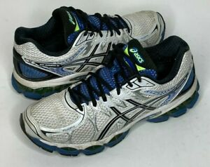 Asics-Gel-Nimbus-16-Mens-Size-8-White-Blue-Silver-Running-Shoes-T435N
