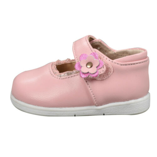 NEW Baby Girls Patent Leather Shoes Girls Formal Shoes sz0-20M White-Black-Pink