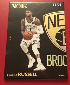 D'angelo Russell 15/25 Gold Noir 2017 Panini Timberwolves White Jersey #46