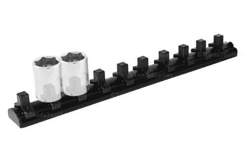 """SP TOOLS Socket Rail 1//4/"""" Drive 200mm with Magnetic Base Holds 10 Pieces SP201RM"""
