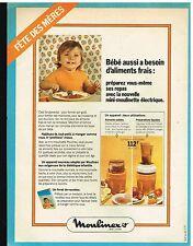 Publicité Advertising 1975 La mini moulinette electrique Moulinex