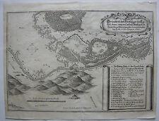 Tokaj Ungarn Feldlager Schlacht Baron de Souches Orig Kupferstich 1672