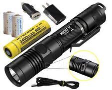 NITECORE MH12GT 1000 Lumen LED Flashlight - Long Throw MH12 Upgrade - USB Bundle