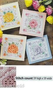 SUMMER-ROSE-CARDS-CROSS-STITCH-PATTERN-ONLY-A5L2S