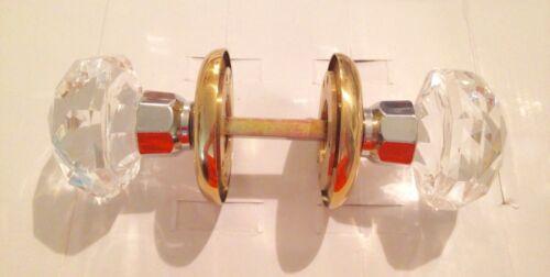 Mid Century Style Starburst Crystal And Brass Door Knob NEW IN BOX