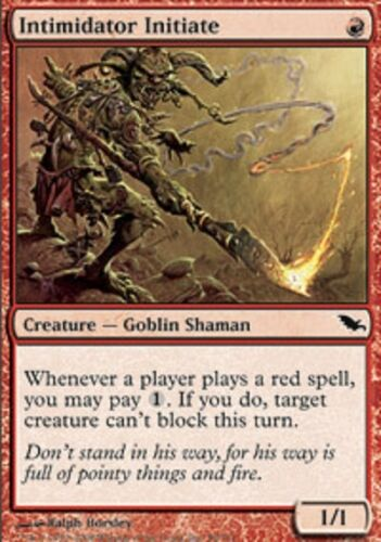 Magic Card SHM 4x MTG: Intimidator Initiate Red Common Shadowmoor