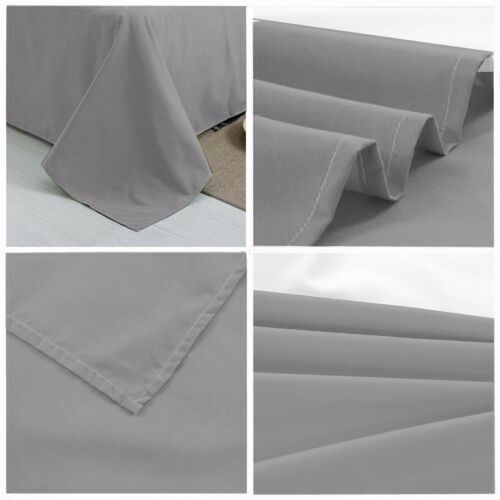 Hotel Quality, Flat sheet Extra Soft,Breathable/& Comfortable Microfiber