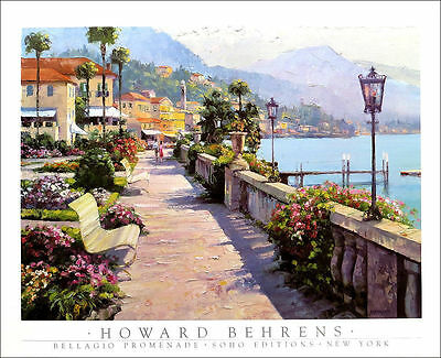 Bellagio Promenade by Howard Behrens Art Print Poster SOHO Edition 35x27