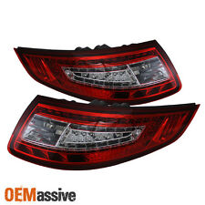 Fits 05-08 Porsche 911 997 Carrera 4/S/4S Red Clear LED Tail Lights Left+Right