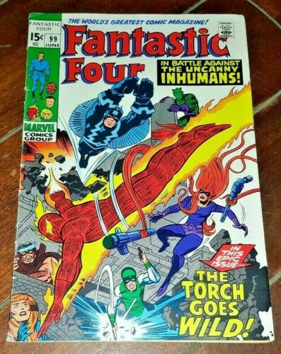 Fantastic Four #99, The Torch Goes Wild! 1970, Marvel