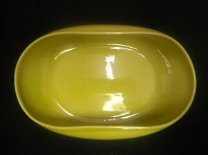 RUSSEL-WRIGHT-STEUBENVILLE-ART-POTTERY-YELLOW-OVAL-SALAD-FRUIT-BOWL