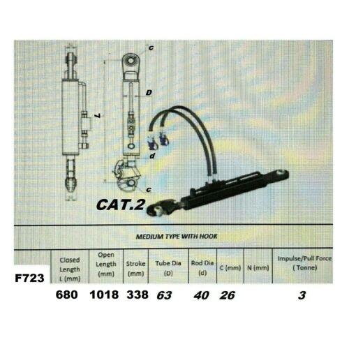 Hydraulischer Oberlenker Kat.2 u Fanghaken und 2-Hydraulikschlauch traktor