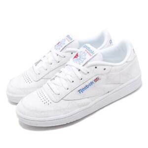 Reebok-Club-C-85-Tennis-Inspired-White-Grey-Blue-Women-Classic-Shoes-DV7306