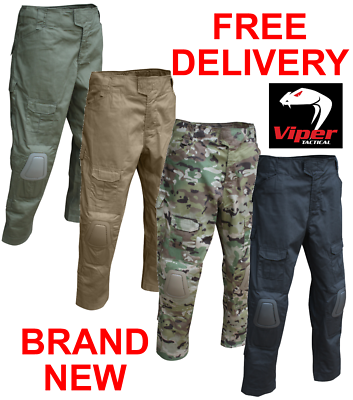 Viper Elite Trousers Vcam Multicam Airsoft Army Combat Pants Knee Pads