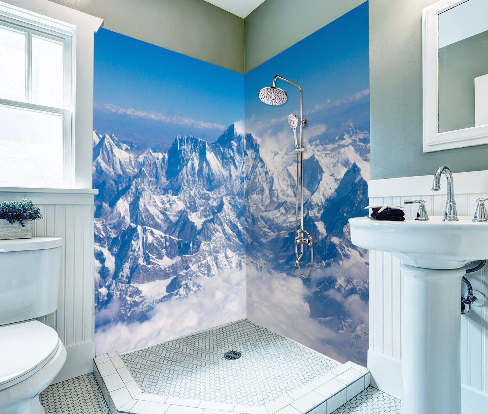 3D Snow Mountain 425 WallPaper Bathroom Print Decal Wall Deco AJ WALLPAPER AU