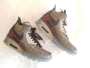 competitive price 162fc ad373 Image is loading NIKE-AIR-MAX-90-SneakerBoot-Dark-Dune-amp-