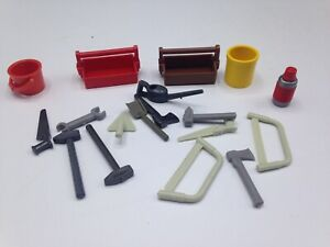 Playmobil-Toolbox-w-Tools-Lot-for-Car-Mechanic-Construction-Gas-Station