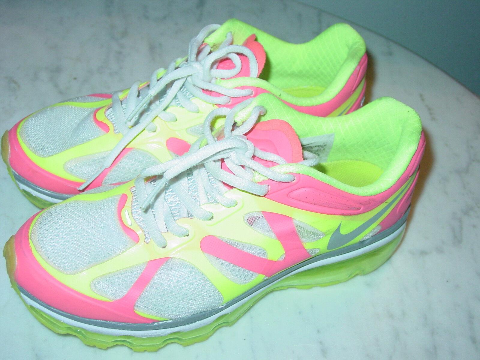 2011 Nike Air Max+ 2012 2012 2012 White Metallic Platinum Running shoes  Size 5.5  160.00 52a389