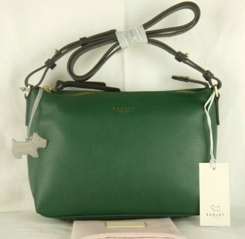 Radley Guildhall Small to Medium Size Emerald Green Leather Cross Body Bag New