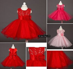 Vestito-Cerimonia-Feste-Natale-Bambina-Party-Girl-Christmas-Dress-CDR013