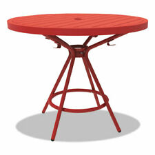 New Listingcogo Tables Steel Round 36 Diameter X 29 12 High Red