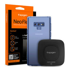 Galaxy Note 9 I Spigen® Fast Wireless Charger+Case+Screen Protector [2PK] Bundle
