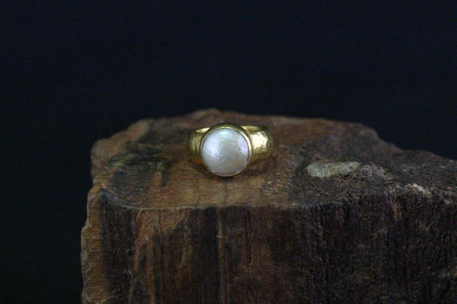 RING RING RING 24k giallo con una piccola perla occupato 7d3d18