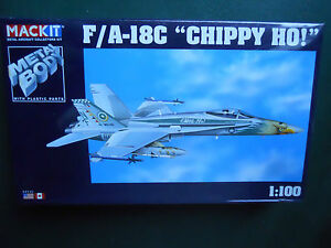 ARMOUR-1-100-MACKIT-KIT-METAL-AVION-F-A-18C-034-CHIPPY-HO-034-MINT-BOX