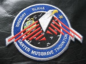 GREGORY-BLAHA-CARTER-MUSGRAVE-THORNTON-SPACE-SHUTTLE-EMBROIDERED-PATCH-NASA-5-034