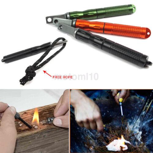 Hot EDC Gear Survival Waterproof Mini Magnesium Flintstone Lighter Fire Starters