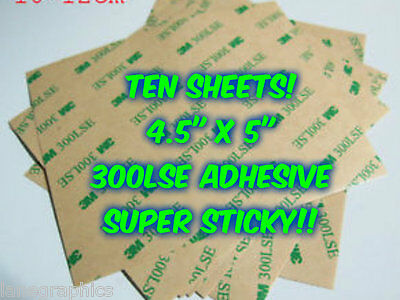 10 SHEETS 3M 300LSE Industrial Double Sided Adhesive Cardmaking Crafts Cut Glue
