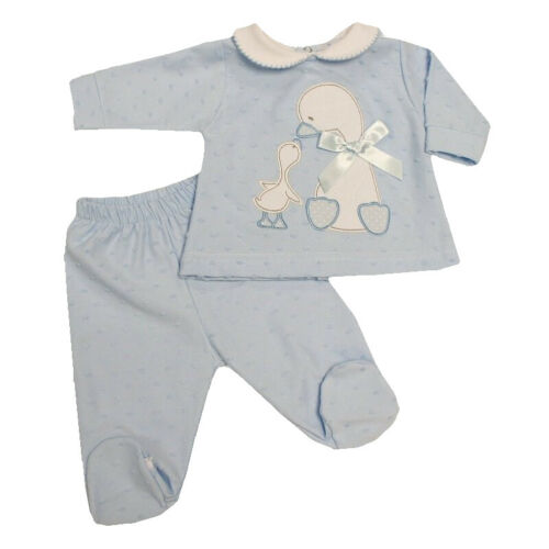 Baby Boys Spanish Style Sky Blue Top /& Trousers Baby Ducks Design