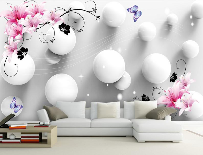 3D Kreis Ball Lilie Blaume 753 Tapete Wandgemälde Tapete Tapeten Bild Familie DE | Authentisch  | Züchtungen Eingeführt Werden Eine Nach Der Anderen  | Spielen Sie auf der ganzen Welt und verhindern Sie, dass Ihre Kinder einsam sind